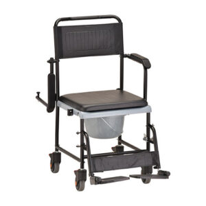 Commode, Drop-Arm Transport Chair Commode