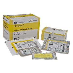 Dressing, Cardinal Xeroform Petrolatum Dressing 5 X 9 Inch Gauze Bismuth Tribromophenate Sterile