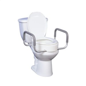 Toilet Seat, Raised, with Removable Arms, Drive