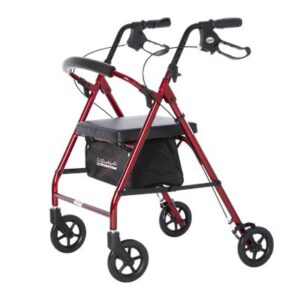 "Rollator, 6"" Wheels, Royal Aluminum, Lifestyle"