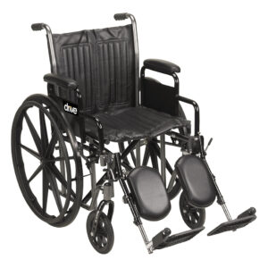 "Wheelchair, Drive Silver Sport 2 Wheelchair, Swing-Away Elevated Footrests, 16"", 18"", 20"""