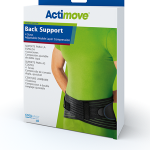Back Support, 4 Stays, Adjustable Double Layer Compression, Actimove