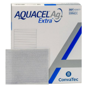 Dressing, Silver Dressing Aquacel® Ag Extra™ 4 X 5 Inch Rectangle Sterile