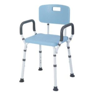 Shower Chair/Bench with Back and Removable Padded Arms, Lifestyle