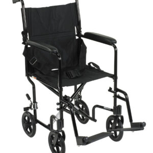 "Transport Chair, Aluminum, 17"", 19"", Drive"