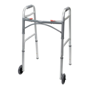 Walker,Standard with Wheels, Aluminum, McKesson