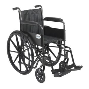 "Wheelchair, Drive Silver Sport 2 Wheelchair, Swing-Away Footrests, 16"", 18"", 20"""
